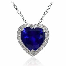 Sterling Silver Sapphire Blue Fine Necklaces & Pendants