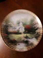 "Thomas Kinkade Collectible Plate ""Hometown Chapel"" - Scripture - Mark 10:27"