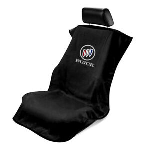 Seat Armour Front Car Seat Cover For Buick - Black Terry Cloth