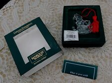 Waterford Lead Crystal Marquis Rocking Horse Christmas Ornament in Original Box