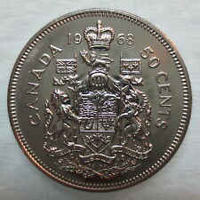 1968 CANADA 50 CENTS PROOF-LIKE HALF DOLLAR COIN