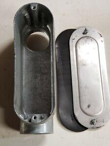"Arlington-Zinc Conduit Body 2"" 935LB-New w/Cover & Gasket-Threaded-Rigid/IMC"