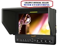 "LILLIPUT 7"" 663 1280x800 800:1 IPS HD FIELD MONITOR+F970+LP-E6 + BATTERY + CASE"