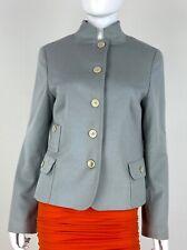 Akris 10 Us 46 It M Wool Angora Blazer Jacket Coat Pockets Lined Runway Auth
