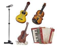 Musik Instrument 5-9 cm, Miniatur Gitarre Akkordeon Geige Wichtel Deko Hobbyfun