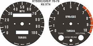 YAMAHA XT500 XT250 ALL MODELS SPEEDO TACHO CLOCKS GAUGES DIAL FACE OVERLAYS