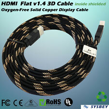 15M Copper SAA Certified MultiChannel Shielded 1080P Full HD Flat HDMI Cable