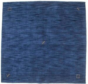 Hand Loomed Contemporary Solid Navy 5X5 Square Rug Oriental Home Decor Carpet