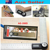 2 in1 400mm Digital Angle Finder Meter Protractor Goniometer Ruler 360° testing