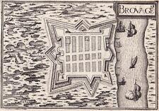 Carte XVIIe Hiers Brouage Charente Maritime Christophe Tassin 1634
