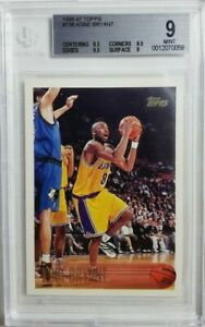 1996-97 Topps #138 Kobe Bryant Rookie Card RC BGS 9 Mint 2X 9.5 Subs! Lakers