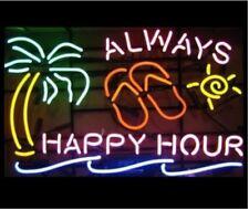 """New Always Happy Hour Neon Light Sign 20""""x16"""""""