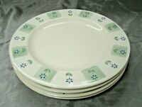 "Pfaltzgraff CLOVERHILL FLORAL Set of 4-10 1/4"" Dinner Plates USA Disc'd  EUC"