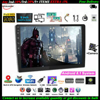 9''2 Din Android GPS Autoradio+CAM Airplay iOS Lien Miroir Tactile Wifi FM BT