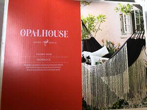 Opalhouse Fringe Trim Hammock Black Boho Chic