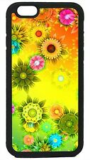 Sunflower Flowers Floral Black Case Cover for Apple iPhone 4 4s 5 5s 5c 6 6 Plus