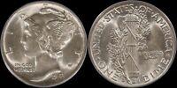 1943 D PCGS AU58 Mercury Dime Every Mans Set WW2 Silver US Type Set Old Coin
