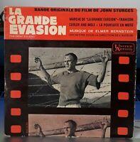 """BOF LA GRANDE EVASION 45 TOURS 7"""" EP FRANCE JOHN STURGES STEVE MAC QUEEN"""