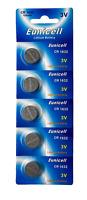 100 x CR1632 3V Lithium Batterie 120 mAh( 20 Blistercard a 5 Batterien )Eunicell