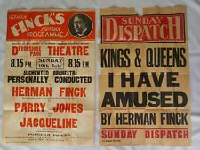 Original Theatre Poster for Herman Finck 1920/30's