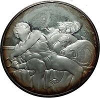 1970 PROPHET Johan Sistine Chapel by Michaelangelo Christian Silver Medal i60781