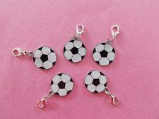 FOOTBALL SOCCER BALL enamel clip on charm lobster clasp for charm bracelets
