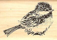 BIRD Chickadee Wood Mounted Rubber Stamp JUDIKINS 3697E New