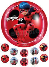 Miraculous Ladybug Cat Eßbar Tortenaufleger Muffinaufleger NEU Party Deko