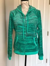 JUICY COUTURE CROWN GREEN VELOUR HOODED JACKET SZ. L