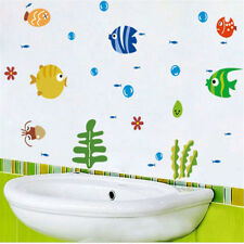 tropical fish bubble wall sticker kids room bathroom removable wall decal P&T