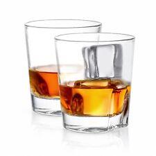 JoyJolt Carina Old Fashioned Whiskey Glasses, Lead-Free Crystal 8.4 oz Set of 2