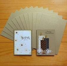 PREMIUM GOLD LEAF METALLIC SHIMMER CARDSTOCK A5 x 12 SHTS - NEW