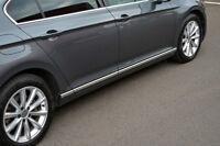 Chrome Side Door Streamer Trim Set Covers To Fit Volkswagen Passat B8 (2016+)
