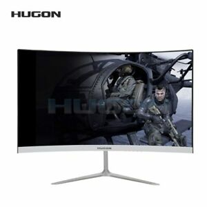 """HUGON 23.8 Inch 1920×1080P Curved Screen Monitor 75Hz HD Gaming 24"""" Computer Dis"""