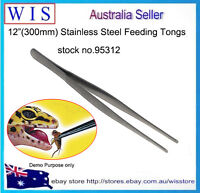"""12"""" Stainless Steel Straight Tweezer,Feeding Tongs for Reptile Snakes Lizards"""