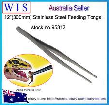 """12""""(300mm) Metal tainless Steel Feeding Tongs,Feeding Tweezers for Reptile-95312"""