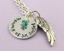 Personalized Mommy of an Angel Remembrance Necklace Memorial Jewelry - Baby