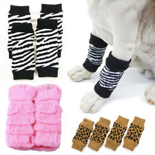 2 pairs Dog Cat Non-slip Socks Leg Knee Protection Puppy Soft Antiskid Supplies