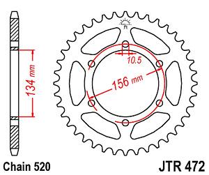 KAWASAKI KR250 B2 KR1 1989 JTR472 40 JTR508 JT REAR BLACK SPROCKET KR 250 NEW