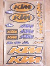 Grande planche 18 autocollants stickers moto KTM
