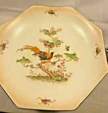 Vintage 1930's Crown Ducal Cake Stand - Exotic Birds - Good Condition