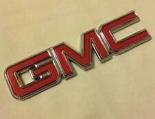 GMC Nameplate Emblem OEM 22884137 Chrome & Red for Pickup Truck SUV Van New