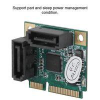 Mini 2-port PCI-e PCI  to SATA 3.0 6Gbps Converter Hard Drive Expansion Card JS