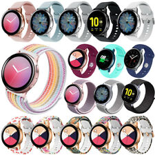 For Samsung Galaxy Watch Active 2 40mm 44mm Sport Soft Silicone Nylon Band Strap