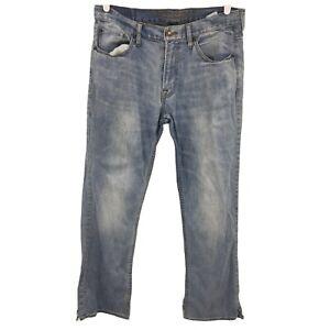 American Eagle Mens Core Flex Blue Denim Jeans Adult Straight Casual 33x32