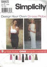 Misses & Petite Dress Formal Dressy Simplicity 9865 9 Looks 1 Pattern Size 4-8