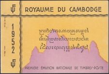 CAMBODIA, 1952. First issues Booklet 15a-17a, Mint