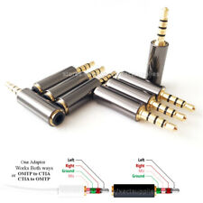 3.5mm OMTP to CTIA Bi-Directional wiring standard Audio / Mic converter Adapter