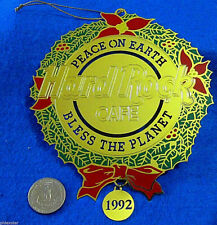 HRC XMAS TREE BLESS THE PLANET HANGING GOLD DECORATION 92 Hard Rock Cafe NOT PIN