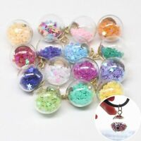 DIY Charms Making  Pendants Round Transparent Glass Ball Confetti Jewelry 20PCs
